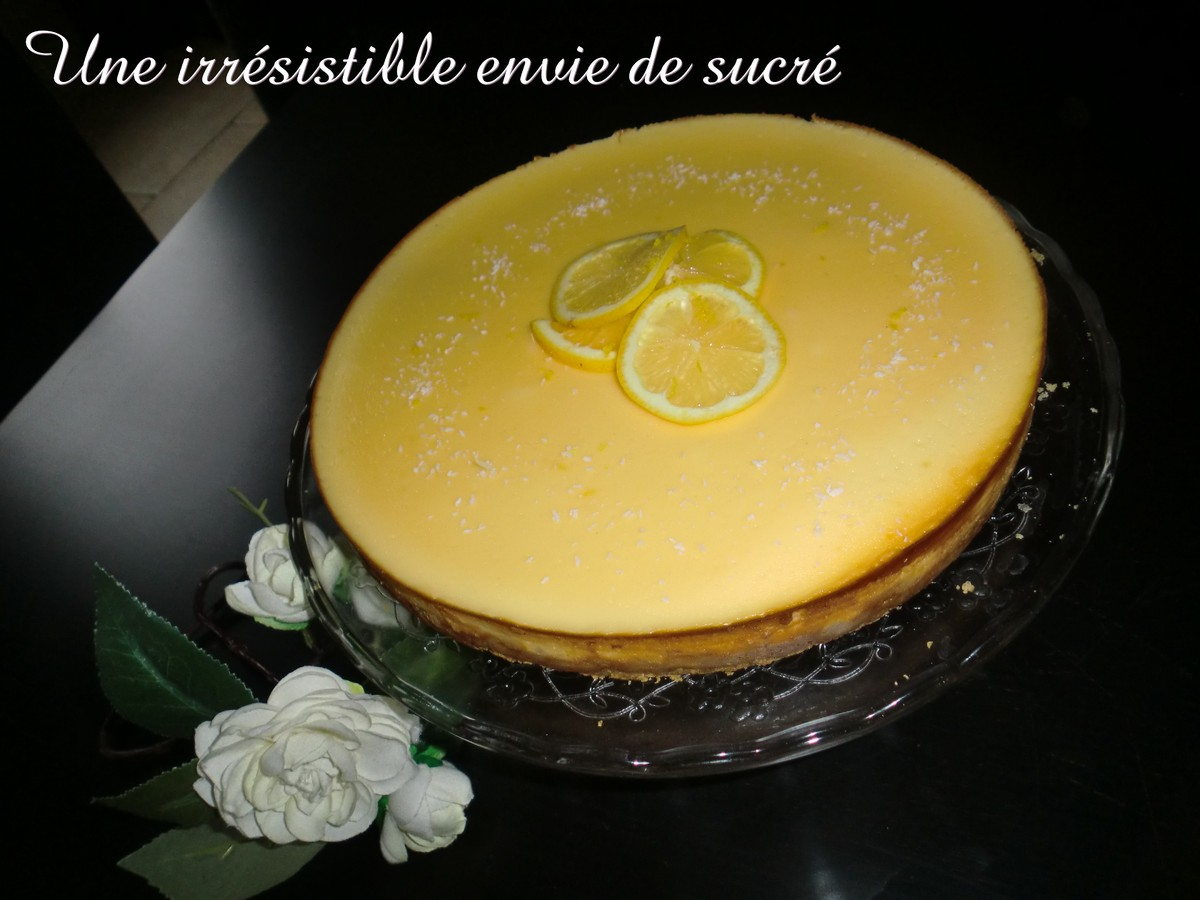 Cheesecake New Yorkais Au Citron