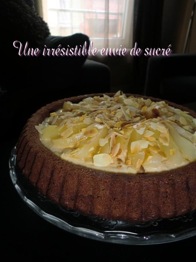 Gâteau au Chocolat Renversé Poires Amandes