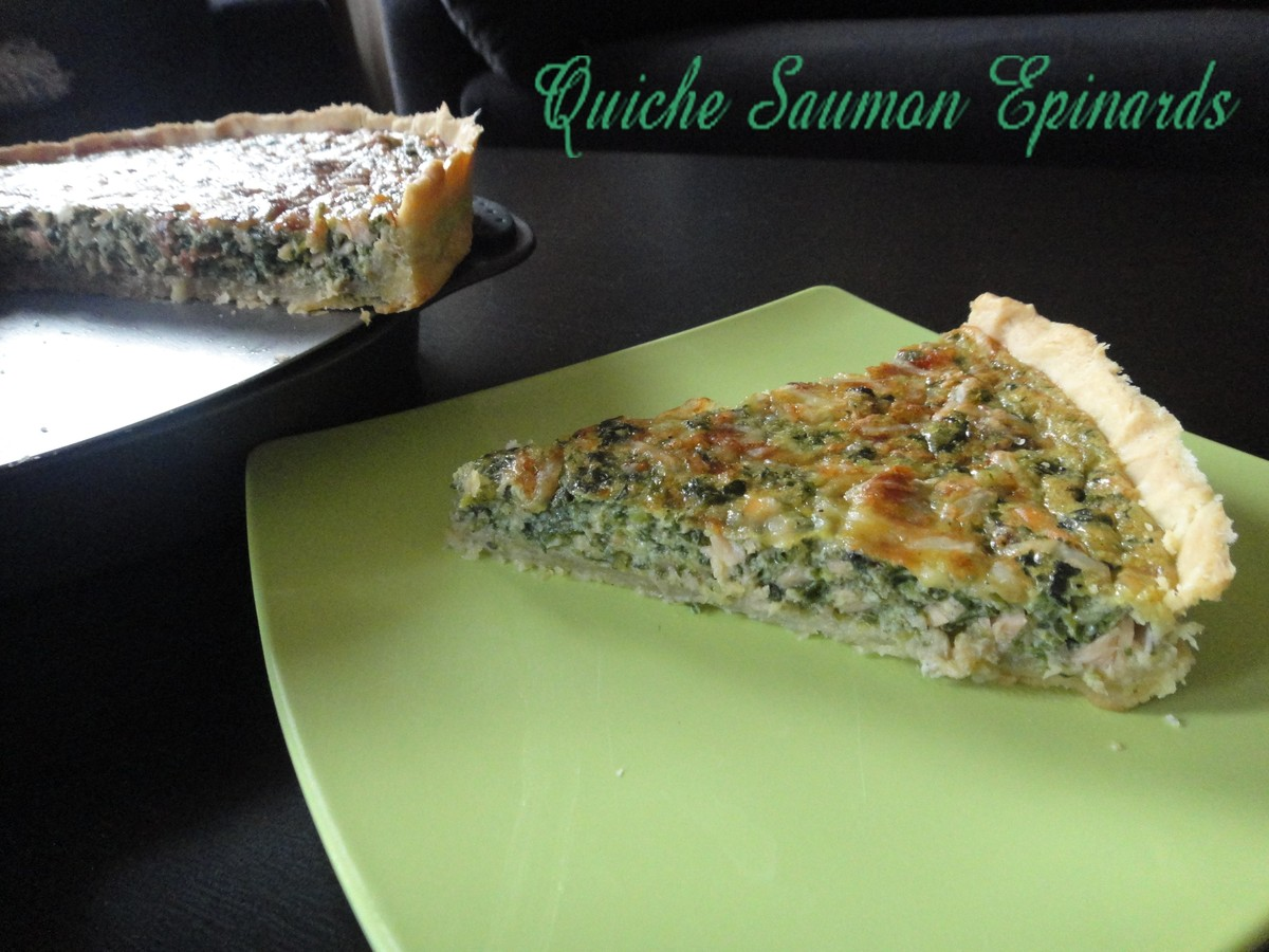 Quiche Epinards saumon fumé