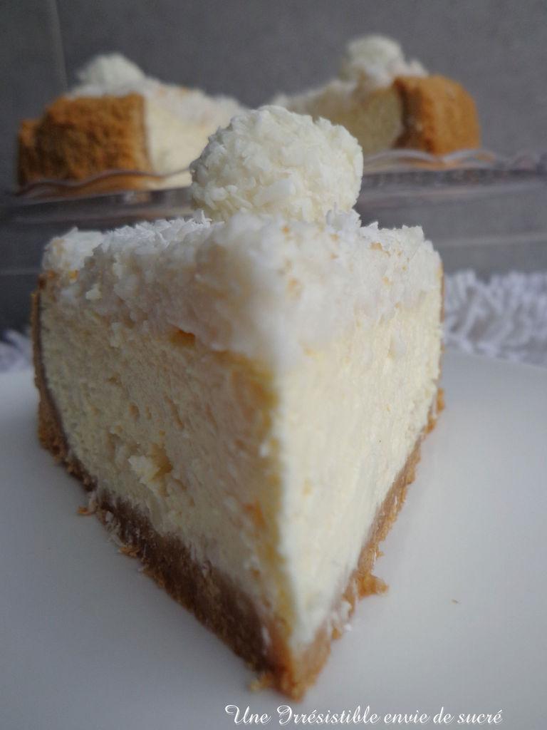 Cheesecake des anges à la noix de coco et rafaello
