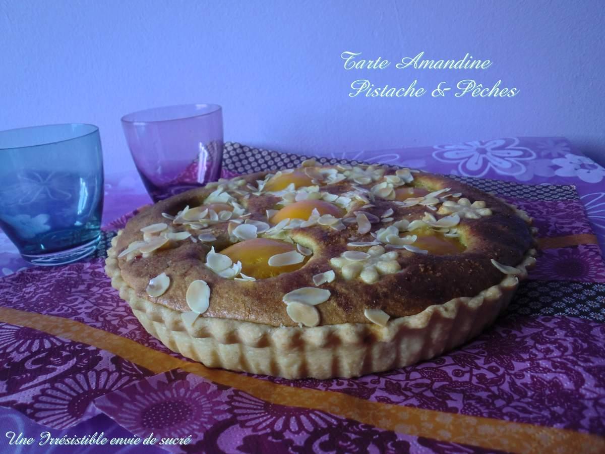Tarte Amandine Pistache & Pêches