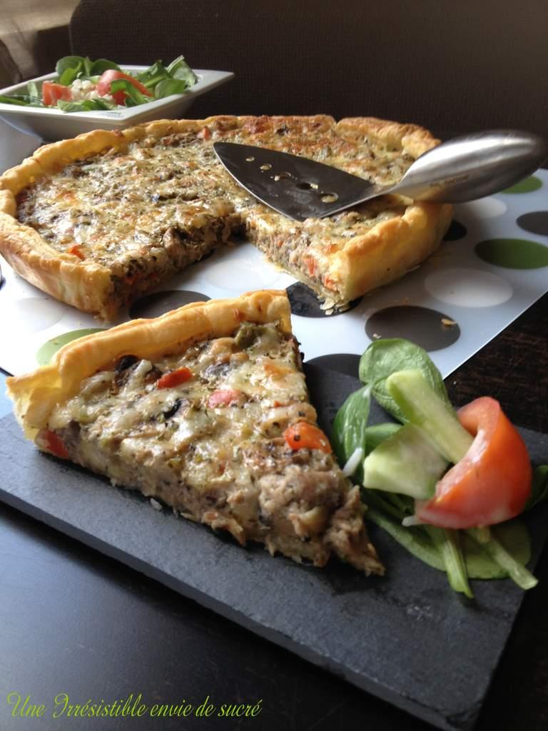 Quiche Au Thon & Légumes